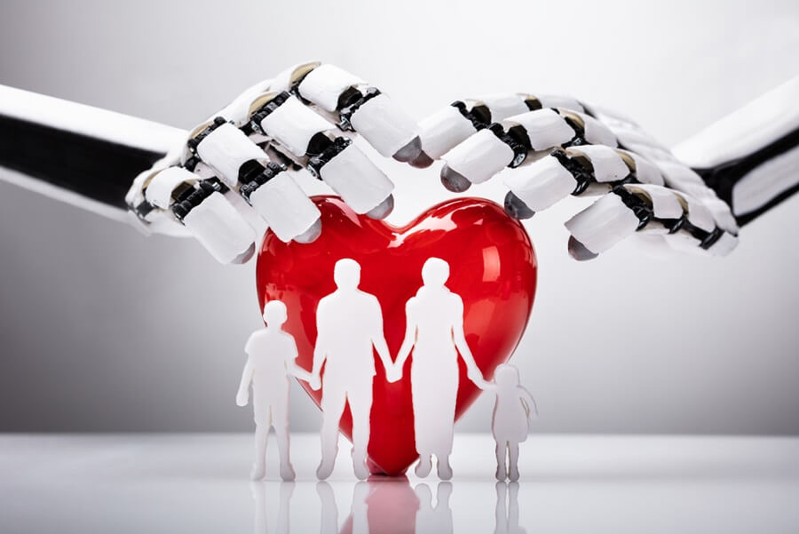 Family heart robot