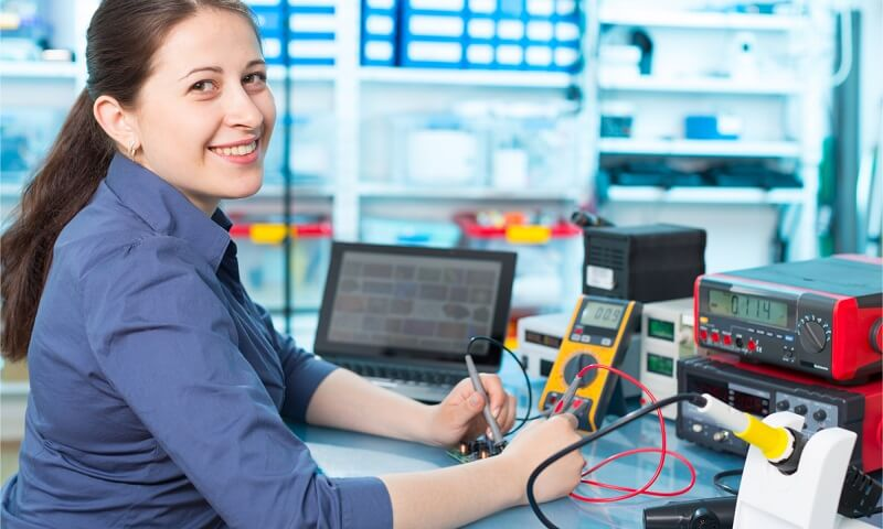 Female Electronics Engineer