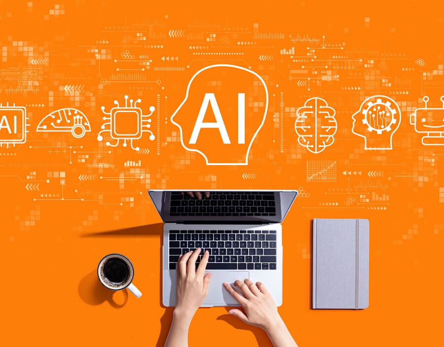 AI and laptop